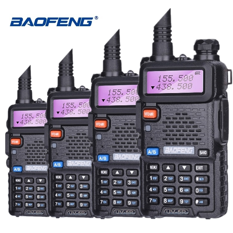 4pcs Special Price Baofeng UV-5R Walkie Talkie VHF UHF Two Way Radio UV 5R Ham HF Transceiver CB Radio UV5R Hunting Radio Amador