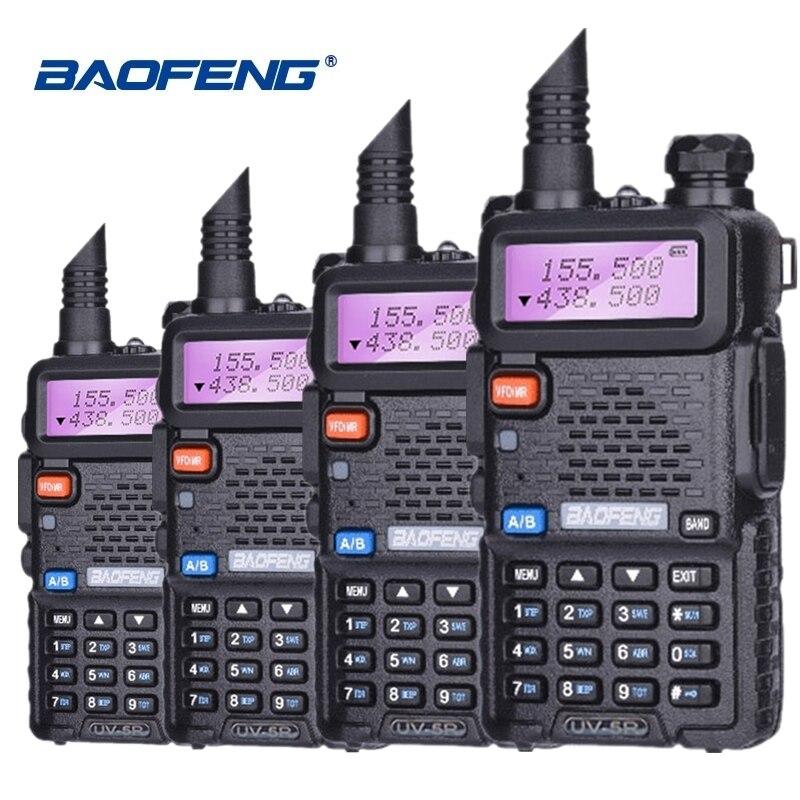 4pcs Special Price Baofeng UV-5R Walkie Talkie VHF UHF Two Way Radio UV 5R Ham HF Transceiver CB Radio UV5R Hunting Radio Amador