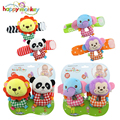 Baby Toys Bug Wrist Strap Watch Band Socks Soft Lion Panda Elephant Monkey Plush Rattles Toy For Newborn Babies 0-12 Months