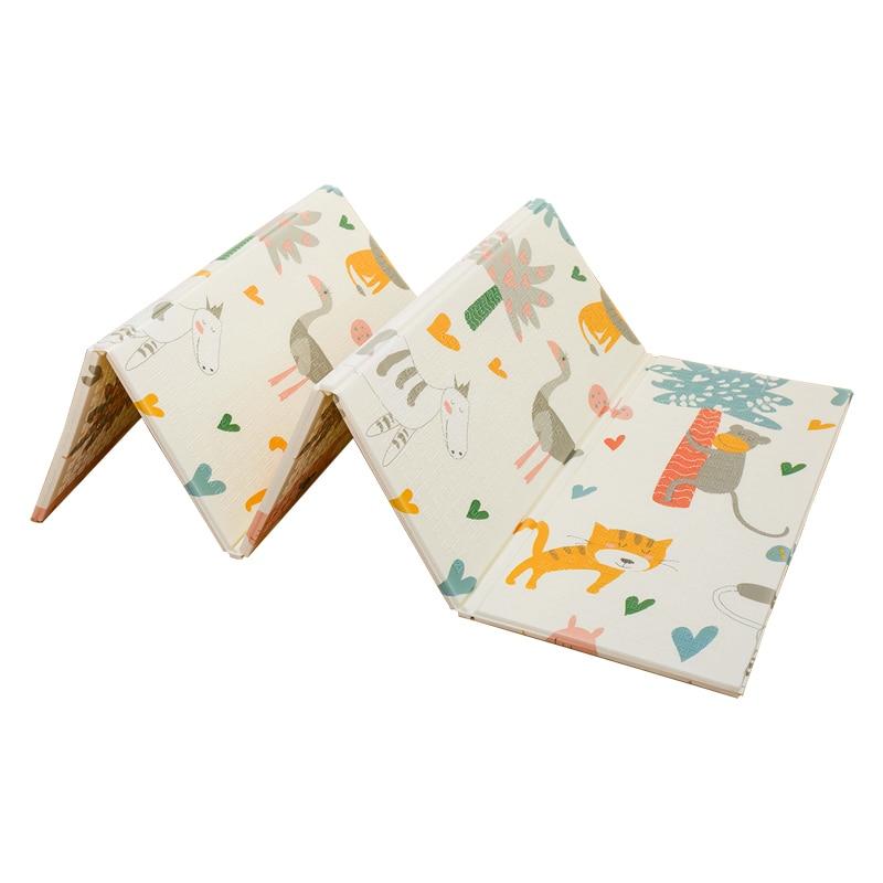 Infantile brillant 200*180*1 cm pliable bébé tapis de jeu écologique XPE enfants Playat Cartton tapis antidérapant tapis de salon - 5