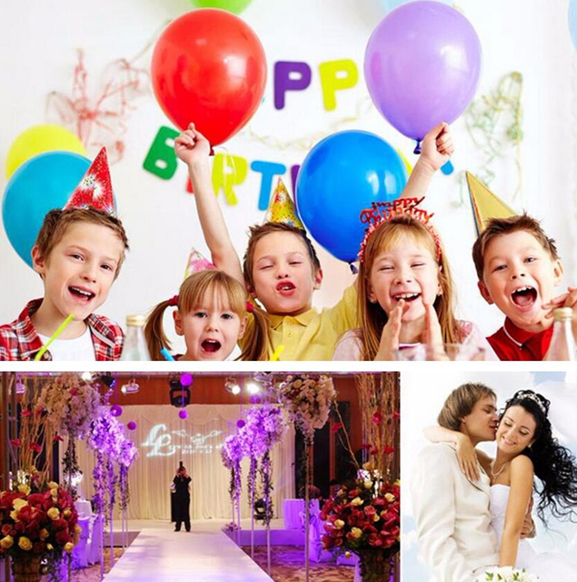 10pcs/lot Blue 10inch 1.5g Pearl Latex Balloon Air Balls Inflatable Wedding Balloons Children Birthday Party Decoration Balloons