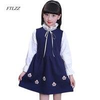 Baby Girl Dress dài tay trẻ em dresses for girls Quần Áo trẻ em quần áo Kids Quần Áo mùa đông Bên Mùa Xuân Nova Cô Gái Ăn Mặc