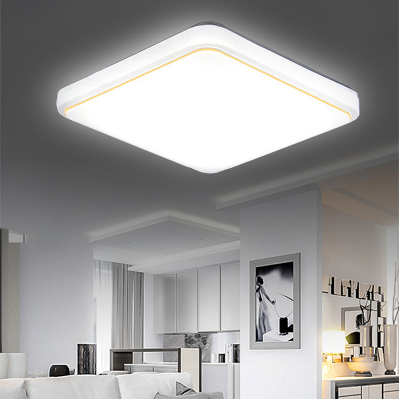 Ceiling Lights 24w Led Ceiling Light Modern Lamp Living Room Lighting Fixture Bedroom Kitchen Surface Mount Flush Panel Switch Control Lights & Lighting