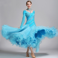New Ballroom Competition Dance Dress Women Lady's Stage Tango Waltz Flamenco Ballroom Dancing Dresses