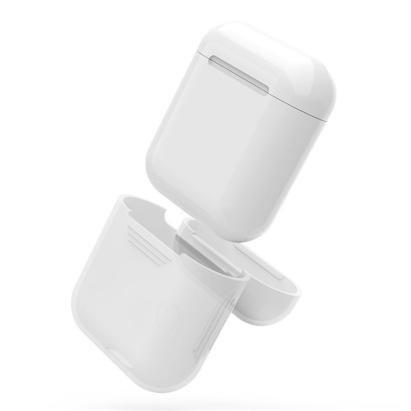 Silicone Skin Case For Airpods Proof Protector Cover Pouch Anti Lost True Wireless Earphone Accessories