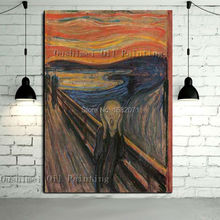 China Professional Skilled Artist Handmade High Quality Famous Oil Painting Reproduction Edvard Munch The Scream