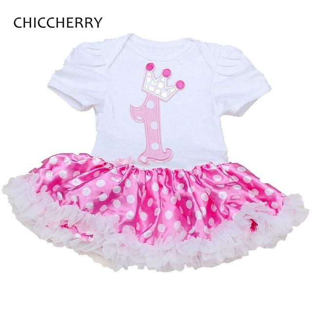 Fashion 2016 Polka Dots Lace Tutu 1 Year Girl Baby Dress Vestido Infantil Baby Jurkjes Birthday Party Dresses For Girls Clothes