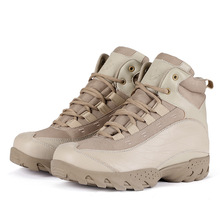 ESDY Jungle Desert Military Tactical Combat Boots Genuine Leather Army Men Boots Outdoor Climbing Safe Work Ankle Boots Shoes