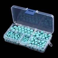 340 unids/caja 4/6/8/10mm Natural azul creado cuentas sueltas de fabricación de la joyería DIY collar y pulsera accesorios de la joyería F2978