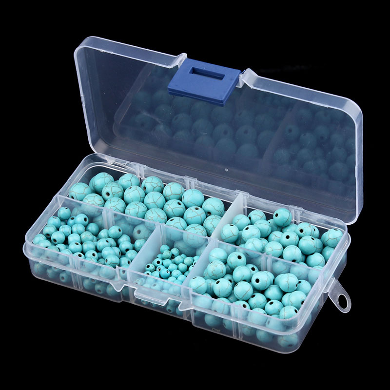 340pcs/box 4/6/8/10mm Natural Blue Created Loose Beads Jewelry Making for DIY Necklace & Bracelet Jewelry Accessories F2978 недорго, оригинальная цена