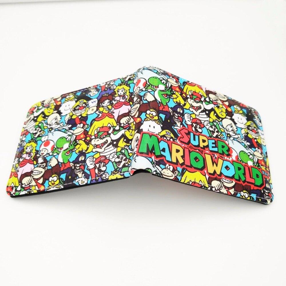 Super Mario World кожаный бумажник сложенный кошелек мультфильм творческий короткие Женские Кошельки w259