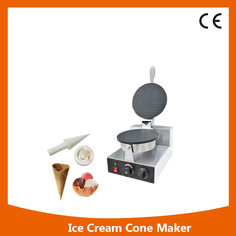 KW-1Y Snack equipments aluminum plate round ice cream waffle cone machine commercial waffle cone baker edtid new high quality small commercial ice machine household ice machine tea milk shop