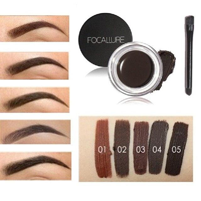 Focallure Chocolate No sombreado ojo pomada crema impermeable, Maquiagem maquillaje accesorios cejas ojo crema ceja potenciador de cosméticos