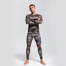 Camouflage suit Men's Thermal Underwear Quick-drying Sportswear Long jo