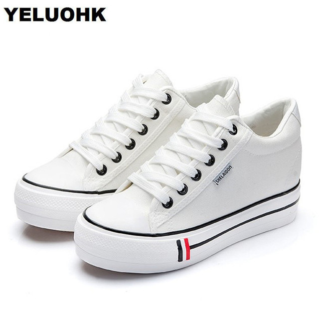d3eea31b26cb 2018 New Canvas Shoes Women Flats Platform Shoes Women Casual Shoes  Comfortable Spring Creepers