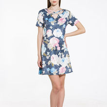 HOT Fashion Dresses Women Summer Floral Dress Female Casual Bandage Bodycon Short Sleeve Ladies Print Woman Short Mini Dress