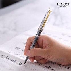 DINGYI przezroczysty chiński kaligrafia miękki pędzel wodny pióro wieczne do rysowania pisanie kaligrafia tłok pióro atramentowe dostaw sztuki