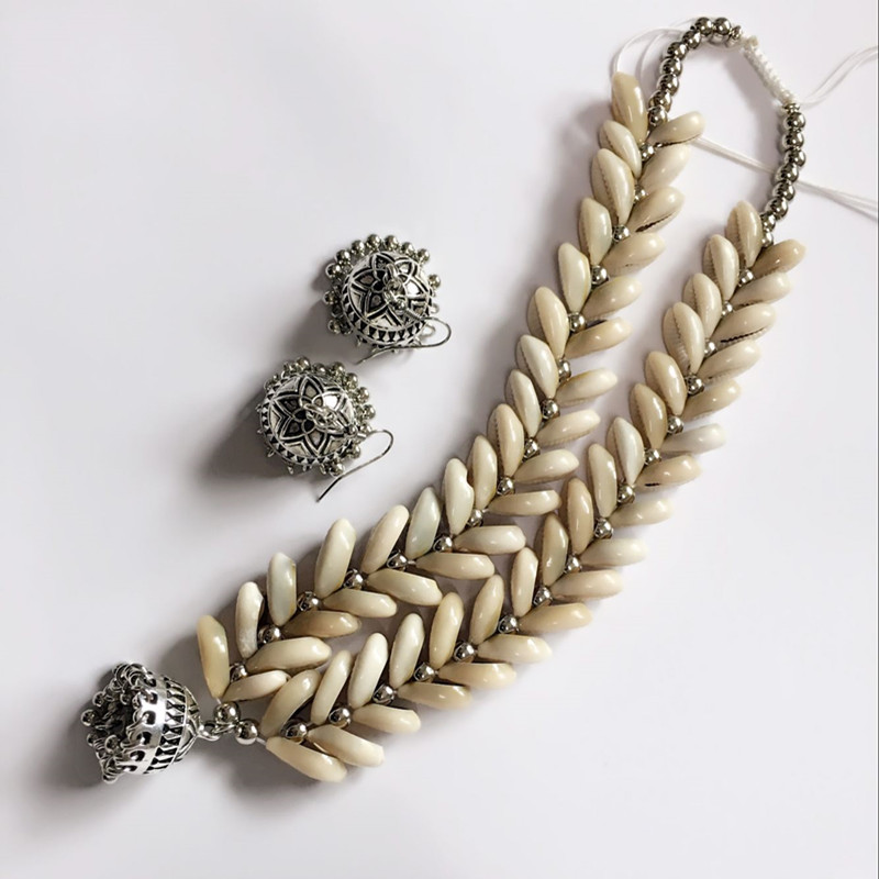 Dongmu jewellery 2018 Bohemian style fashion original handmade beach shell lady necklace alloy pendant exquisite jewelry
