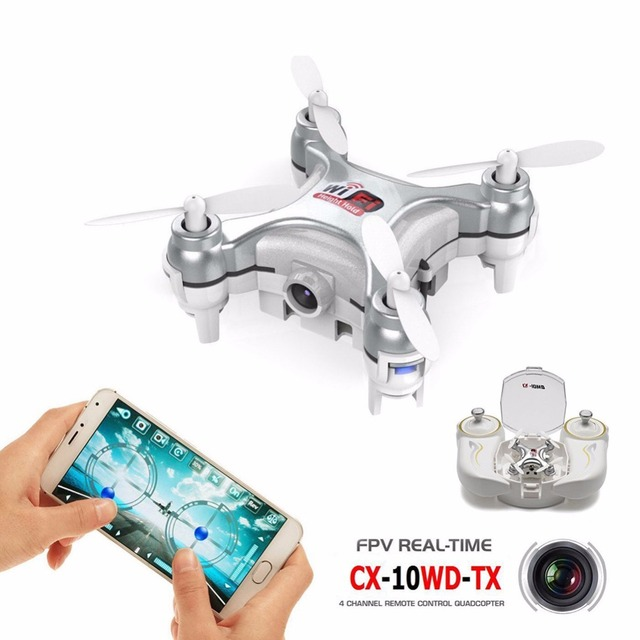 Upslon CX-10WD-TX Mini Pocket Drone Wifi Hight Hold Mode RTF 2.4G 6-axis RC Quadcopter Dron Quadrocopter with 3.0M HD FPV Camera