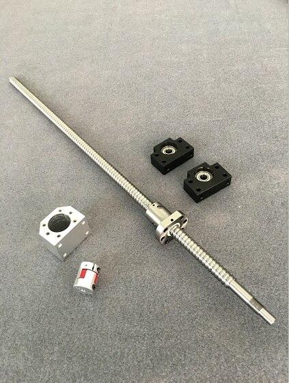 SFU1605 Ensemble: 200 300 400 500 600 700 800 900 1000 1200 1500mm Vis À Billes + BK/BF12 + Écrou Logement + Coupleur CNC Pièces