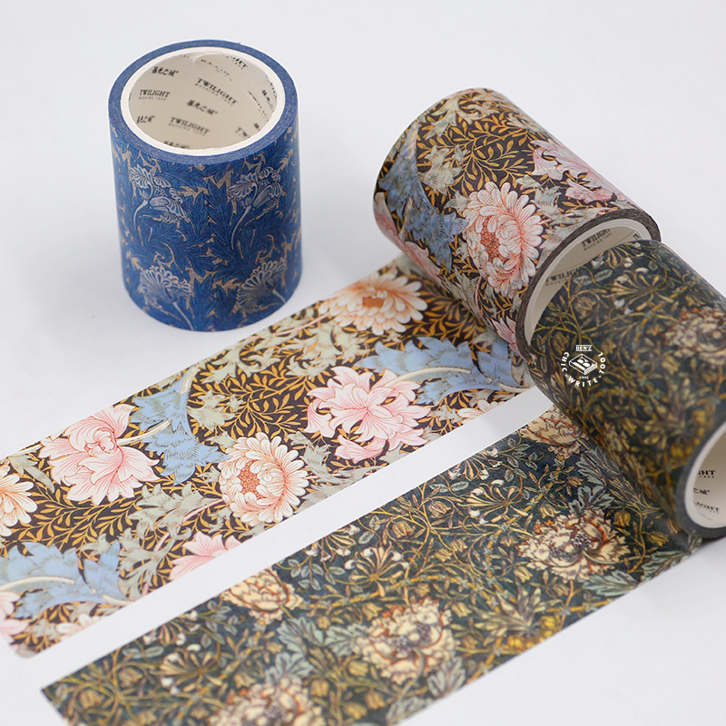 Large Size Washi Masking Tape,Adhesive Tape William Morris Works For DIY,Decorative,Home Furnishing Decorative,Scrapbooking
