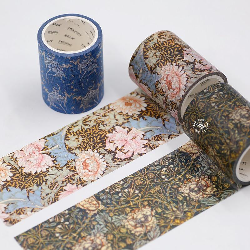 Large Size Washi Masking Tape,Adhesive Tape William Morris Works For DIY,Decorative,Home Furnishing Decorative,Scrapbooking