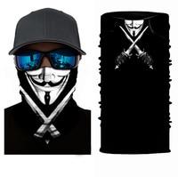 Велоспорт мотоциклетный головной шарф Шея грелка череп маска для лица Лыжная Балаклава головная повязка маска Хэллоуин лицо щит бандана наружная езда