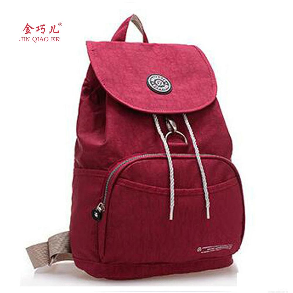 JINQIAOER 2016 Women Backpack Waterproof Nylon 10 Colors ...