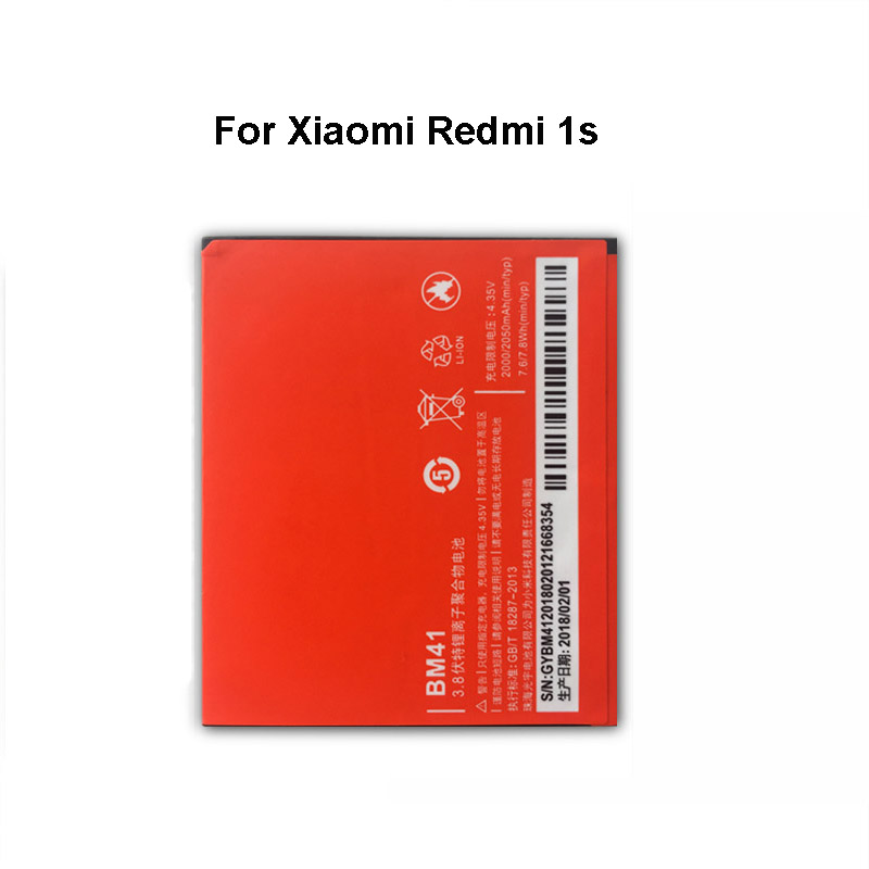<font><b>Original</b></font> BM41 Mobile Phone <font><b>Battery</b></font> For <font><b>Xiaomi</b></font> <font><b>Redmi</b></font> <font><b>1S</b></font> 2050mAh Replacement Li-ion <font><b>Battery</b></font> image