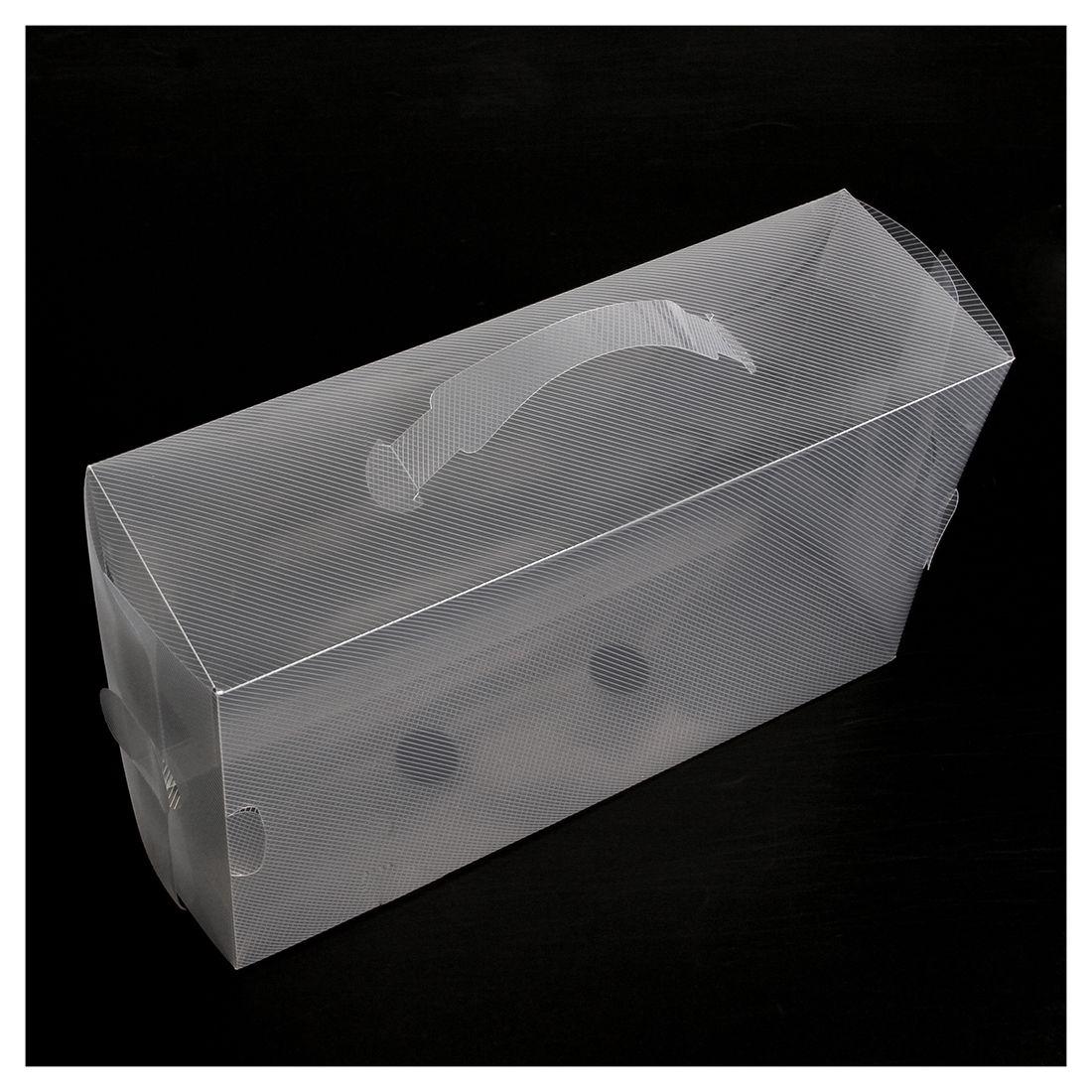 22 Ladies Mens Stackable Plastic Clear Shoe Box Boxes Storage Organiser Foldable- Transparent color