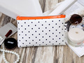 Fashion Simple Dots print high quality canvas women Cosmetic Bag Cases girls Organizer Make-up bags Texture Storage Beauty