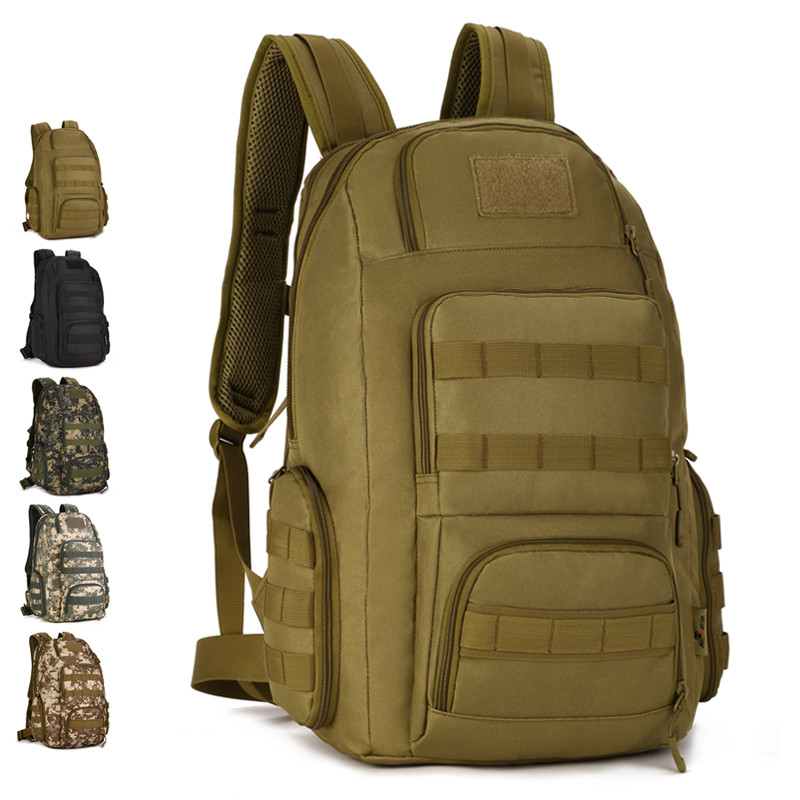 40L Waterproof Assault Backpack Men Women Camo Outdoor Tactical Bag 14 Laptop Backpack Hiking Camping Mountaineering
