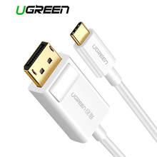Câble USB C DP Ugreen résolution 4K adaptateur USB type c vers DisplayPort pour MacBook Pro Samsung S8 Huawei Mate 10 USB C vers câble DP