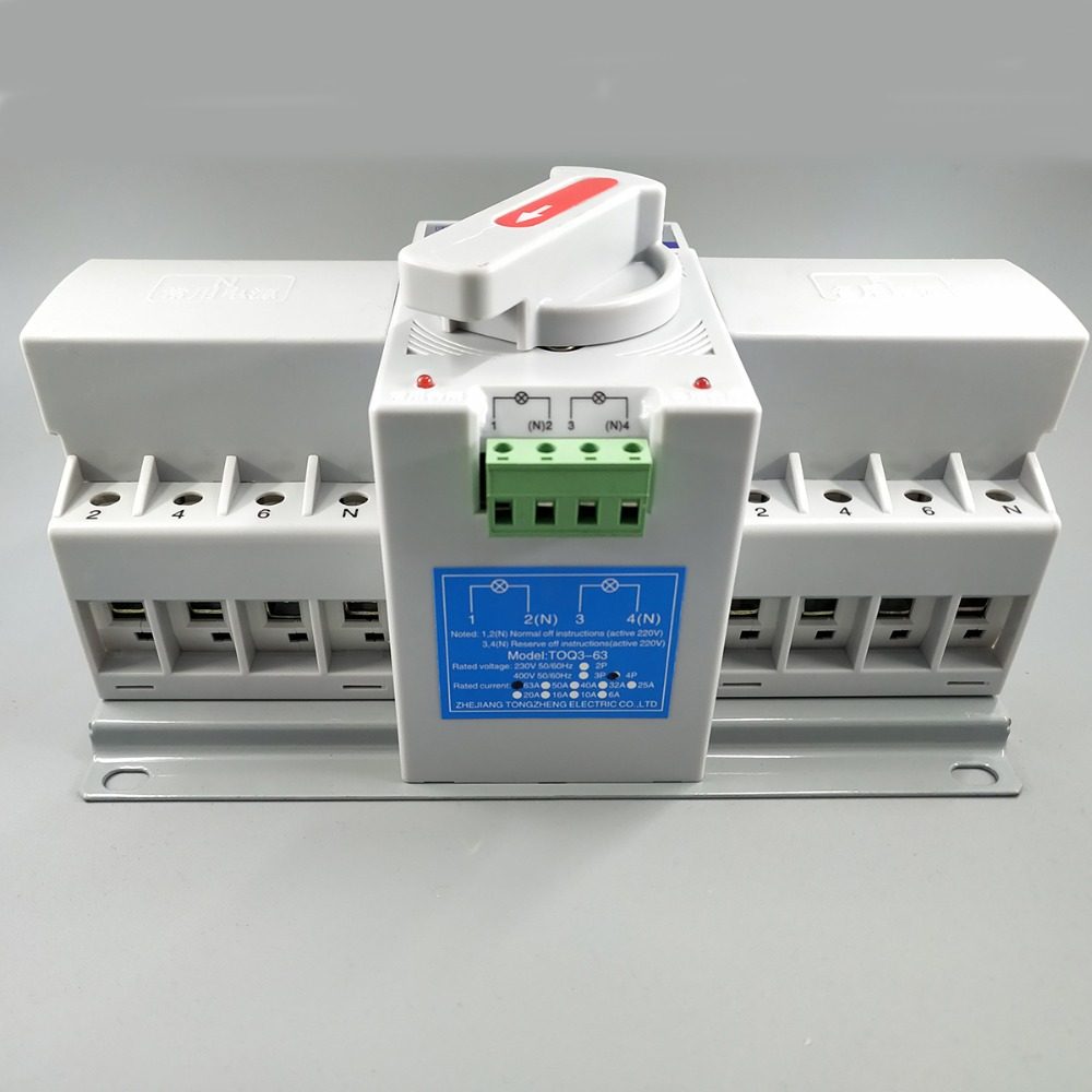 4p 63a 380v Mcb Type Dual Power Automatic Transfer Switch Ats In For Generator View Circuit Breakers From Home Improvement On Alibaba Group