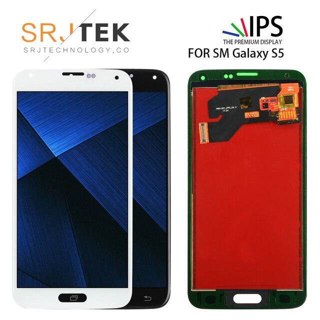 5.1 ''TFT لسامسونج غالاكسي S5 i9600 G900 G900M G900A G900T G900FD شاشة إل سي دي باللمس شاشة رقمنة استبدال أجزاء