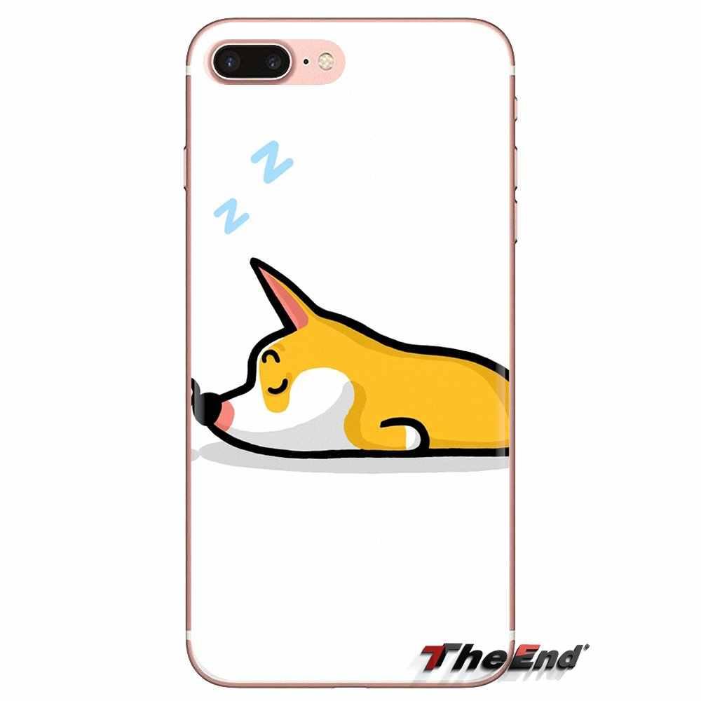 Dla Xiaomi Redmi 4A S2 uwaga 3 3S 4 4X5 Plus 6 7 6A Pro Pocophone F1 cartoon śliczne śpiąca corgi mops silikonowe etui na telefony pokrowce na