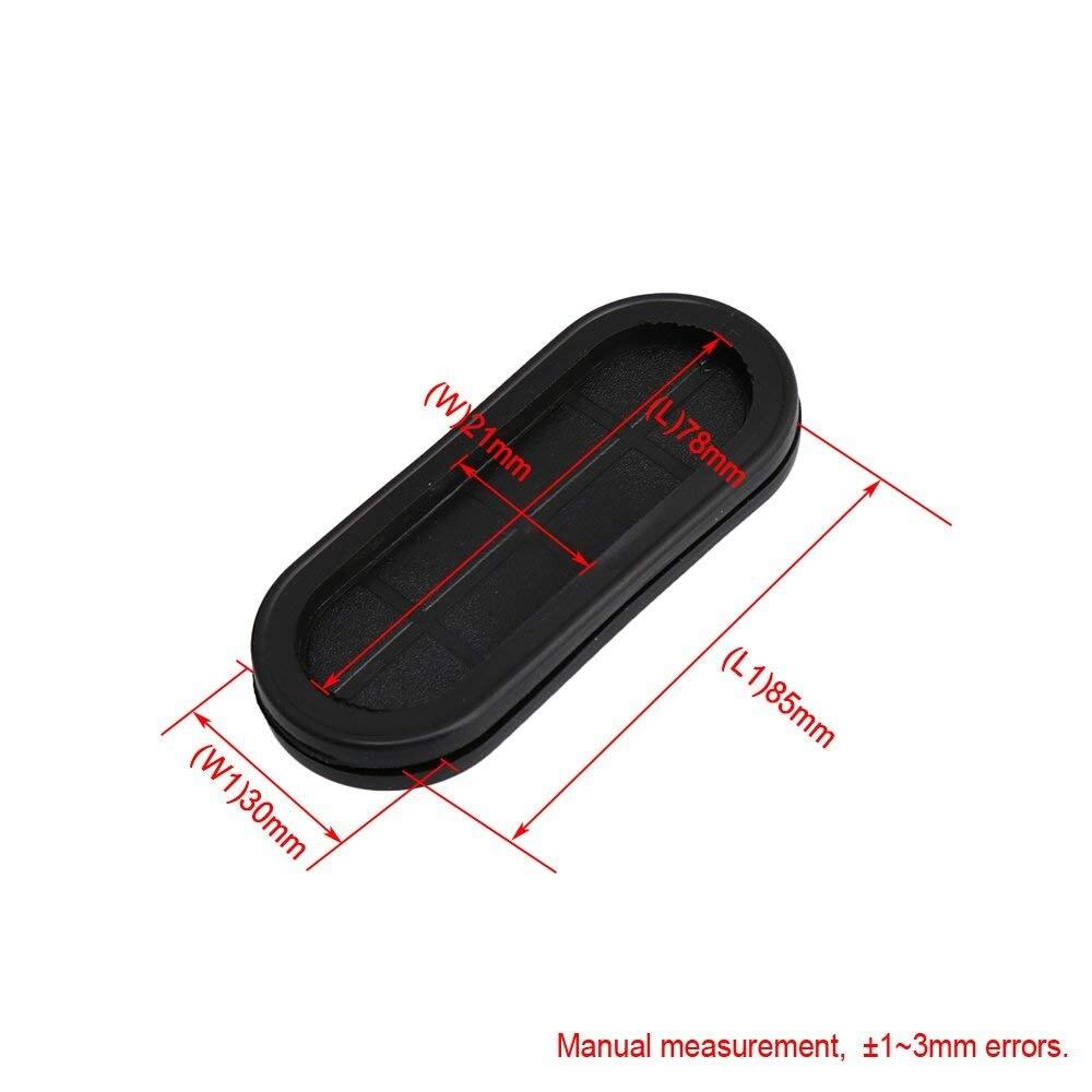 Draht Schutz Schwarz Gummi 40 mm Inner Dia doppelseitig T/ülle