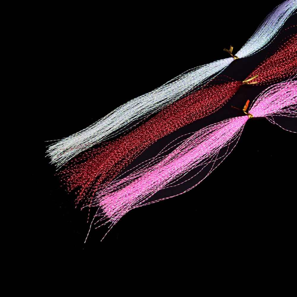 10 ชิ้น/ถุง Fly ตกปลาคริสตัลแฟลชตกปลา Fly Fishing tying วัสดุด้ายผสมสี
