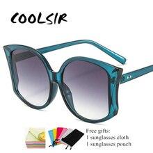 Cat Sunglasses Women Large Size Men Transparent Gradient Frame Vintage Big Retro Sun Glasses Eyewear Female NX