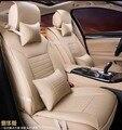 5 pçs/set 2016 nova chegada quatro estações simples estilo capa de almofada do assento de carro materiais de PU tampas de assento do carro confortável