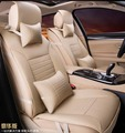 5 unids/set 2016 nueva llegada de la cuarta temporada de simple estilo fundas de asiento de coche cojín del asiento de la PU materiales cómodo