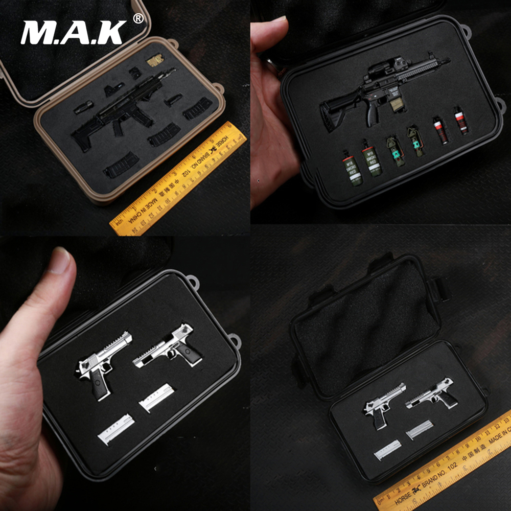 1/6 Scale Solider Figure Scence Accessory Pistol/Rifle Multi-function Weapon Box <font><b>Desert</b></font> <font><b>Eagle</b></font> Gun Box Not Included Weapon image