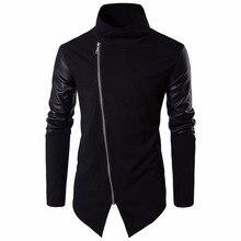 2017 High street Europe street Side zipper Jacket Hip Hop Suit Pullover Winter Jacket Men Coat fashion men Casual jacekts