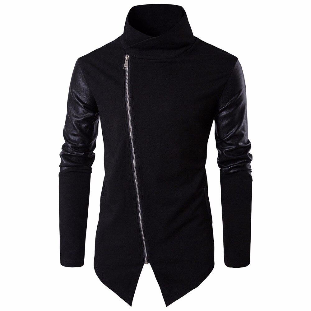 2019 High street Europe street Side zipper Jacket Hip Hop Suit Pullover autumn winter Jacket Men