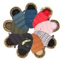 Baby Sleeping Bag for stroller warm winter Newborn Envelope Kids Baby Stroller Foot Cover for pram wheelchair Infant stroller