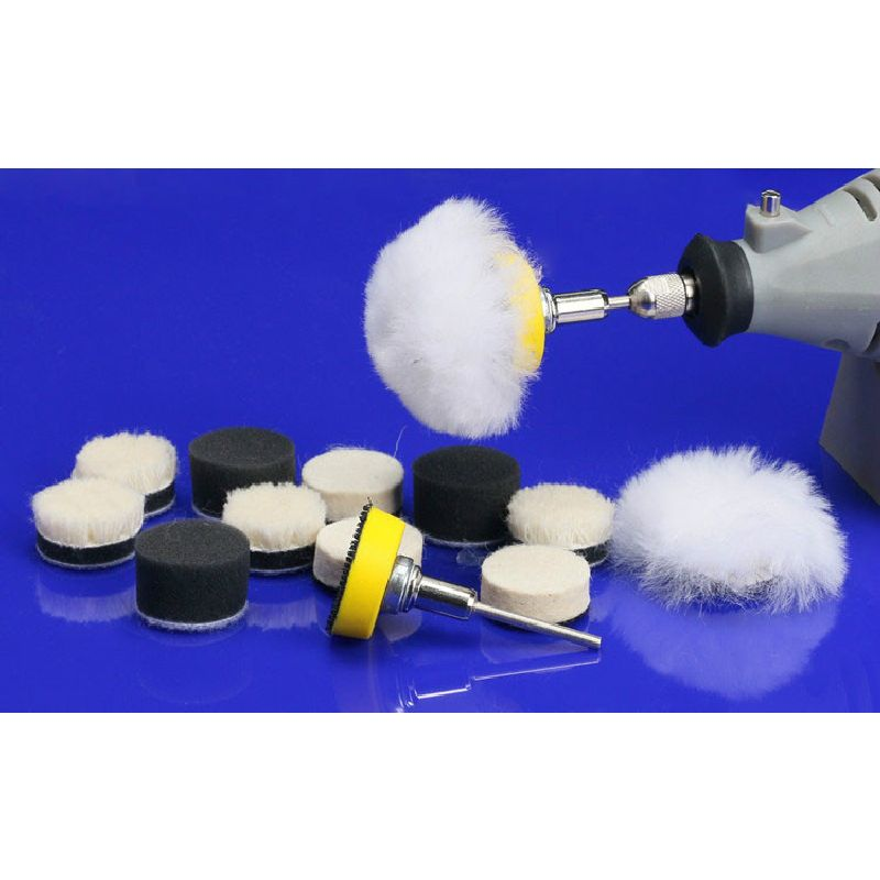 25MM Sandpaper Wool Flock Sponge Wheel Woolen Disk Polishing Wheelhead Sticky Flocking Grinding Disc Round Fine Polishing Tools 40pcs 80 2000 grinding machine round sand paper disc flocking sandpaper mirror polishing tools polisher sander burnishing sandi