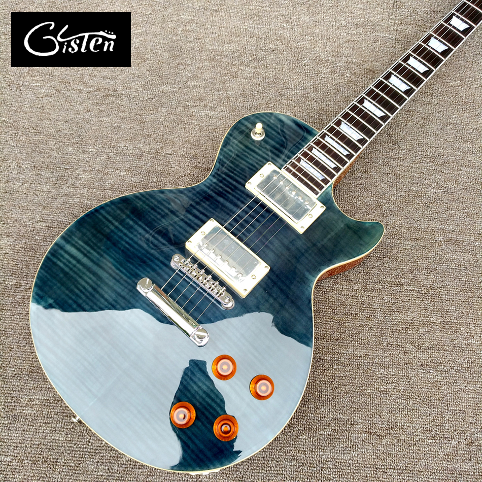 New style high quality LP standard 1959 R9 electric guitar, Flame Maple Top wood binding electric guitar, free shipping цена 2017