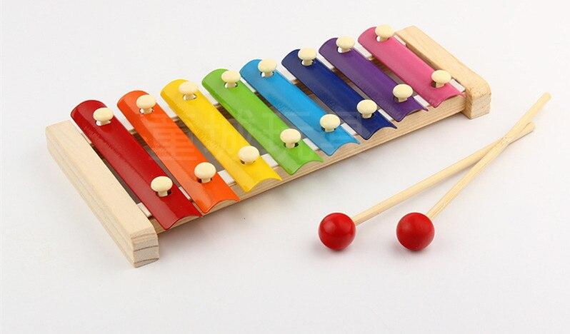 Fiel La Educación Xilófono De Madera Al Por Mayor De Aprendizaje Para Los Niños Chico Juguetes Musicales Xilófono Sabiduría Juguetes 8-nota Instrumento De Música