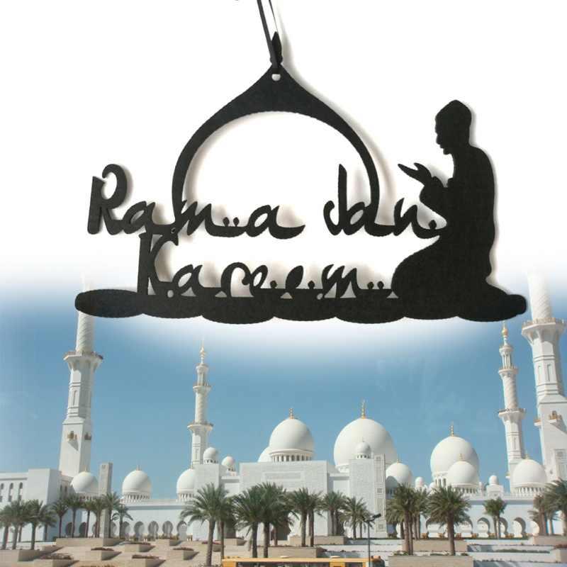 FAI DA TE Eid Del Pendente Ramadan Non-tessuto Decorazione del Tessuto Complementi Arredo Casa Parete Pendenti con gemme e perle Feltro FAI DA TE Ramadan Decorazione Per La Casa