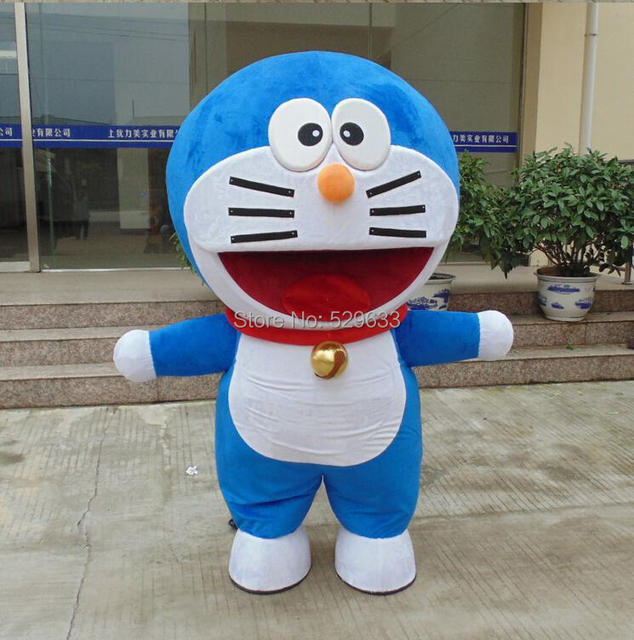Kualitas Asli Edition Ems Gratis Pengiriman Kartun Doraemon Kostum Maskot